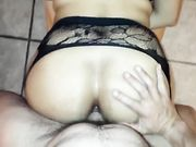 Hot bareback anal fucking doggystyle with horny mom