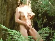 Exhibitionist milf fucked by stranger in the woods