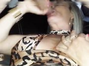 Slutty mature wife sucking a guy in front of hubby