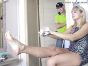Beautiful Russian mature blonde wife fucking with the plumber